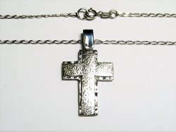 HAND MADE CROSS ,GOLD K14-585