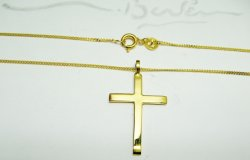 HAND MADE CROSS ,GOLD K14-585 ,SPECIAL ORDER.